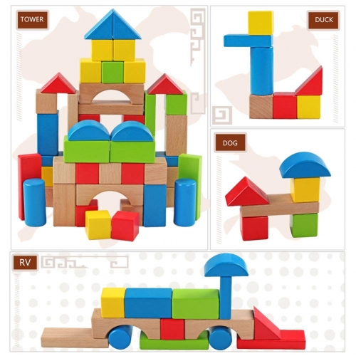 UNICORN ELEMENT Toy Building Blocks in Different Shapes for Children Play
