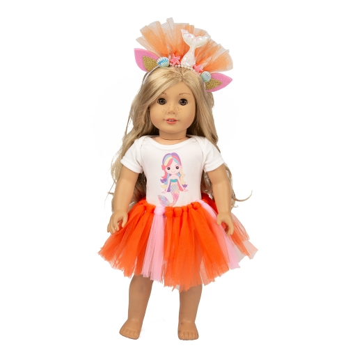 ZITA ELEMENT American 18 Inch Girl Doll Mermaid Doll Clothes Dress with Accesories for 18 Inch Doll Mermaid Clothes Outfits
