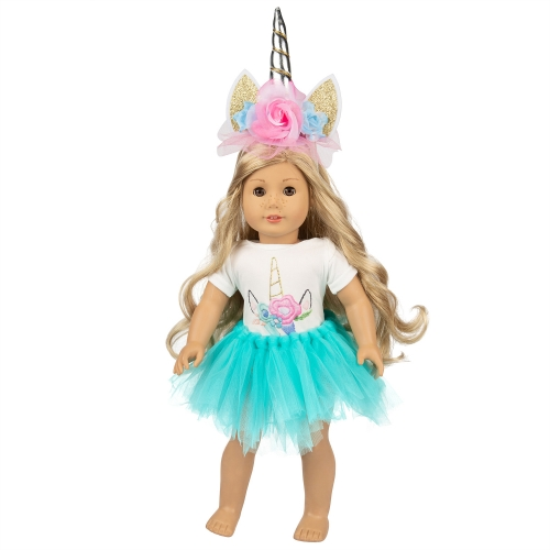ZITA ELEMENT 16-18 Inch Unicorn Doll Clothes for America 18 Inch Girl Doll Clothes and Accessories, Reward Gift for Girls