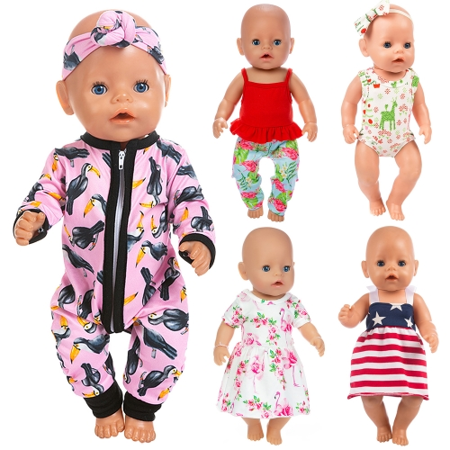 ZITA ELEMENT 10 Items 14-16 Inch Baby Doll Clothes Dresses Jumpsuit Swimsuit for 15 Inch Bitty Baby Doll, American 18 Inch Girl Doll and 43cm New Born