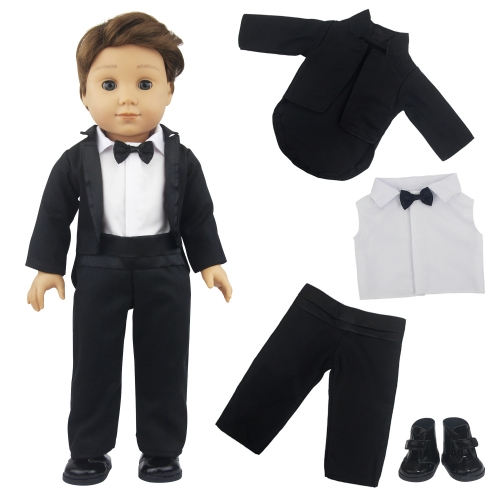 ZITA ELEMENT American 18 Inch Boy Doll Wedding Clothes Party Suit and Shoes