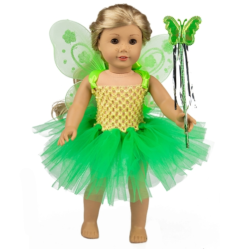 ZITA ELEMENT Fairy American 18 Inch Doll Clothes Accessories for 16 - 18 Inch Girl Doll Outfits - Fancy Gift for Kids Girl Doll Outfits
