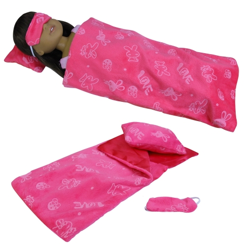 ZITA ELEMENT Set of 3 American 14 to 14.5 Inch Girl Doll Sleeping Bag